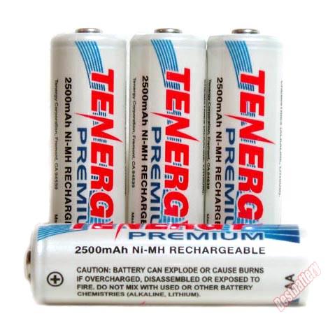 Tenergy Premium 2500 mAh AA