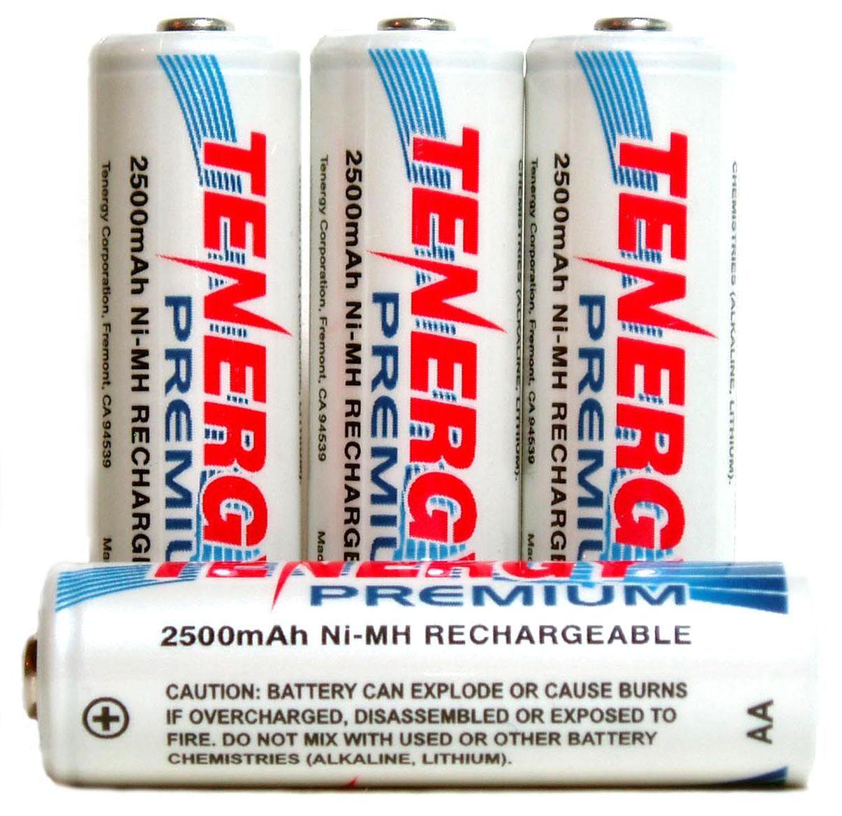 Аккумуляторы Tenergy Premium 2500 mAh (AA)