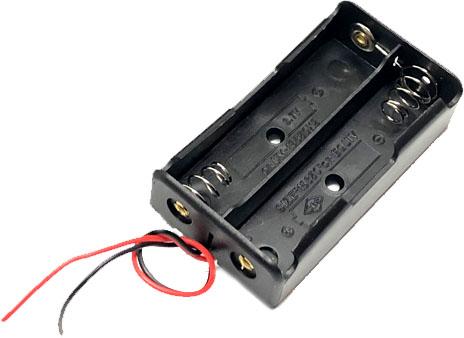 Держатель (холдер) с выводами на 2 аккумулятора 18650 последовательное соединение.