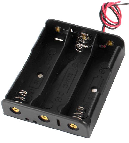 Держатель (холдер) с выводами на 3 аккумулятора 18650 последовательное соединение.