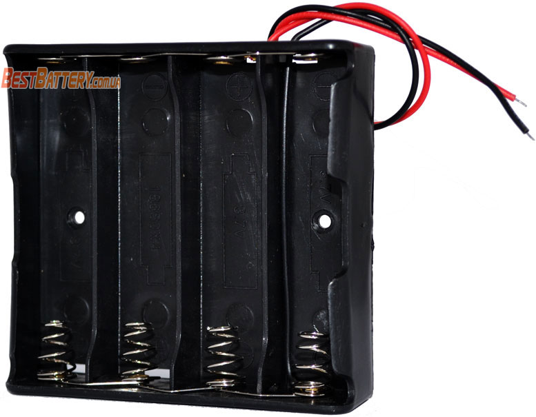 Держатель (холдер) с выводами на 4 аккумулятора 18650 паралелльное соединение аккумуляторов (3.7V).