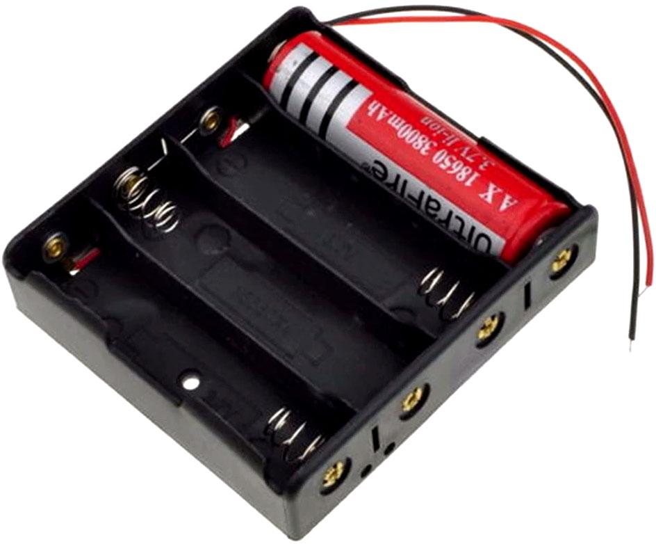Держатель / холдер для 4 аккумуляторов формата 18650 последовательное соединение.