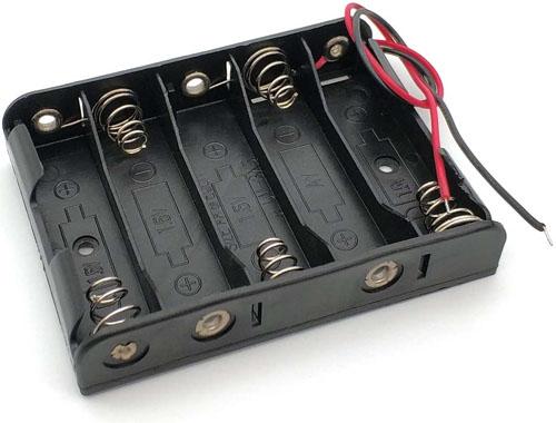 Держатель / холдер для аккумуляторов (батареек) АА на пять слотов.
