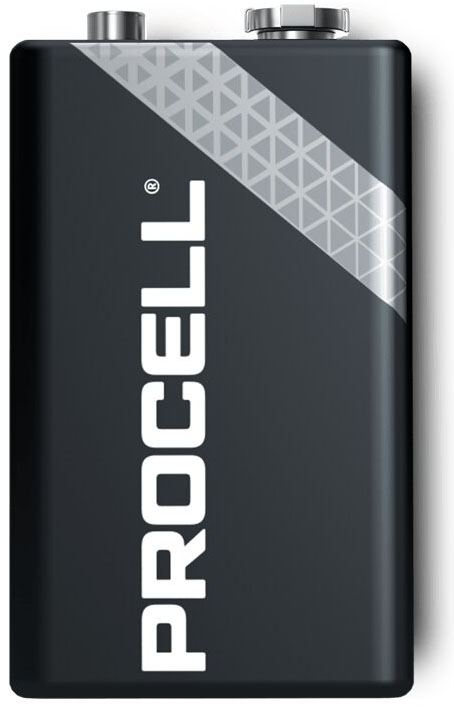 Duracell Procell Alkaline Крона 9В батарейки для профессионального использования (6F22), 9V.