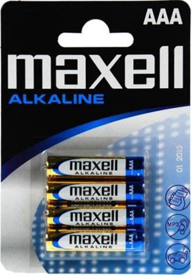 Щелочные минипальчиковые батарейки Maxell Alkaline AAA (LR03), 1.5В.
