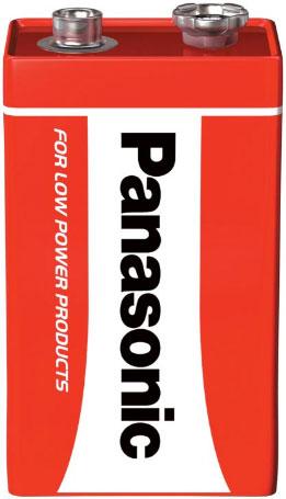 Батарейка Крона Panasonic Red Zinc Carbon 9V.