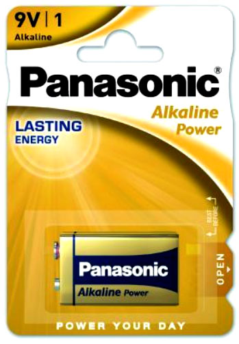 Батарейка Крона Panasonic Alkaline Power 6F22 9В.