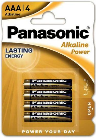 Щелочные минипальчиковые батарейки Panasonic Alkaline Power ААА (LR03), 1.5В