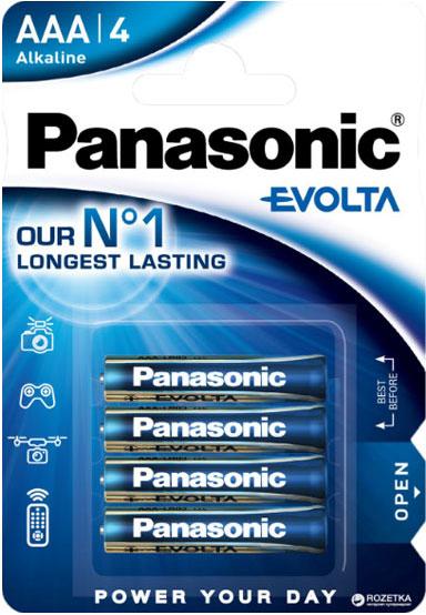 елочные минипальчиковые батарейки Panasonic Evolta AAA (LR03), 1.5В.