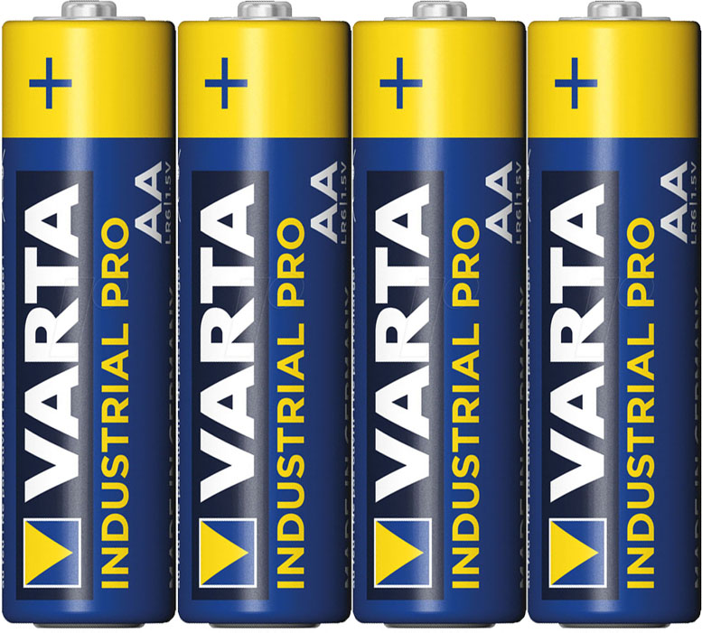 Щелочные пальчиковые батарейки VARTA Industrial Pro AA (LR6) Alkakine.