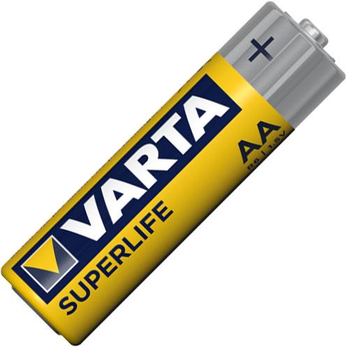 Солевые батарейки VARTA Superlife AA Zinc Carbon LR6 1.5V.
